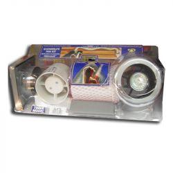 """Manrose Chrome Showerlite Fan Kit with Timer 100mm / 4"""""""