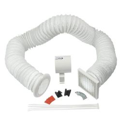 """Manrose In-line Shower Fan Kit with PVC Duct and Grilles 100mm / 4"""""""