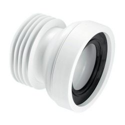 McAlpine WC-CON1 110mm Straight Rigid WC Connector