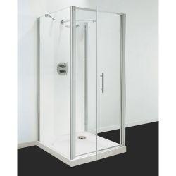 Optima 3 Sided Shower Enclosure - 700mm Pivot Door and 700mm Side Panels