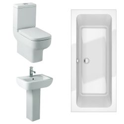 Kartell Options 600 Bathroom Suite with Double Ended Bath
