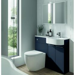 Elation Combination 1010mm P Shaped Basin Vanity Unit with WC Right Hand - Indigo Matt