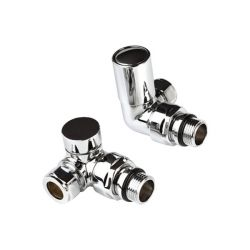 Pair Modern Corner Chrome Radiator Valves