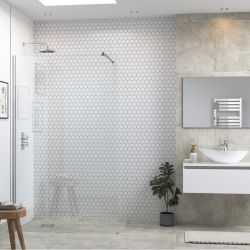 BTL RefleXion Flex Wetroom Panel & Support Bar 500mm