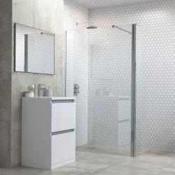 BTL RefleXion Flex 800mm Wetroom Panel with Support Bar & 300mm Rotatable Panel