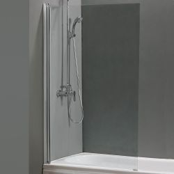 Roma Evo Square Bath Screen H1400mm x W800mm