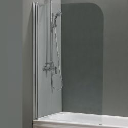 Roma Rio Curved Bath Screen H1400mm x W800mm