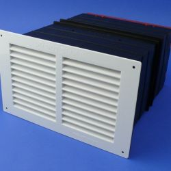"Rytons TCL18 9"" × 6"" Ventilation Set with White Louvre Grill"
