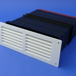 "Rytons TCL8 9"" × 3"" Ventilation Set with White Louvre Grill"