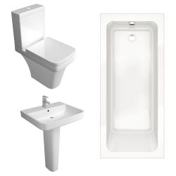 Kartell Sicily Bathroom Suite with Single Ended Bath