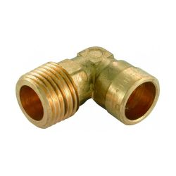 Solder Ring Male Iron Elbow 15mm x 1/2""
