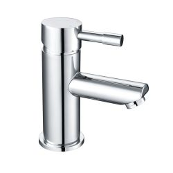 Electra Mini Mono Basin Mixer with Push Button Waste