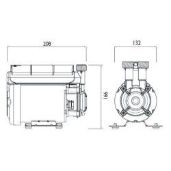 Bristan 2.0 Bar Positive Head Single Impeller Shower Pump