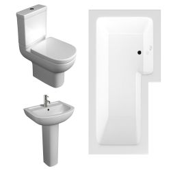 Kartell Studio Bathroom Suite with L Shaped Shower Bath