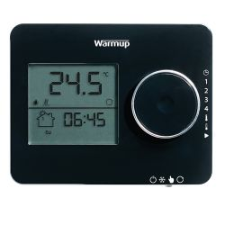 Warmup Tempo Digital Programmable Thermostat - Piano Black