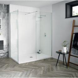 Aquadart Walk-In Wetroom 8 Shower Panel 500mm