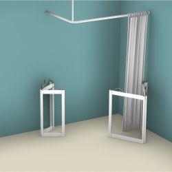 Contour WF3 Corner Access Twin Bi-Fold Shower Doors