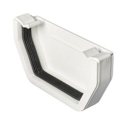 White 112mm Square External Stopend