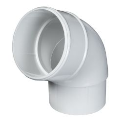 White 68mm Round Rain Water 112 Degree Offset Bend