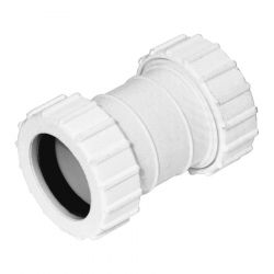 White 32mm Universal Waste Connector