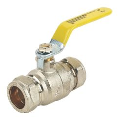15mm Yellow Compression Lever Valve For Gas