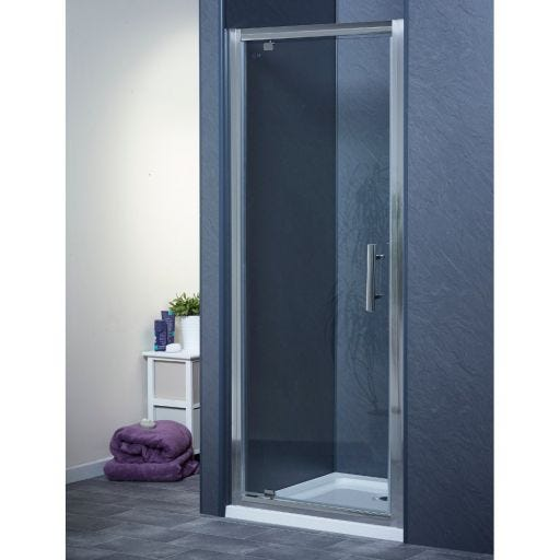 800mm X 700mm Pivot Door Shower Enclosure And Tray