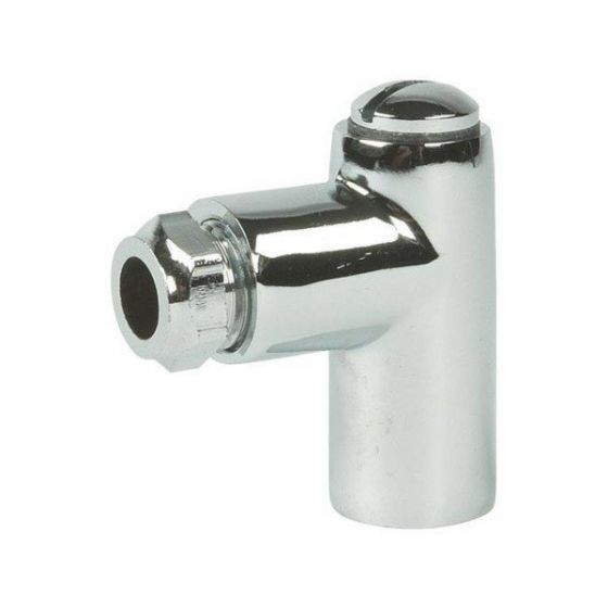Chrome 8mm Restrictor Elbow 2""