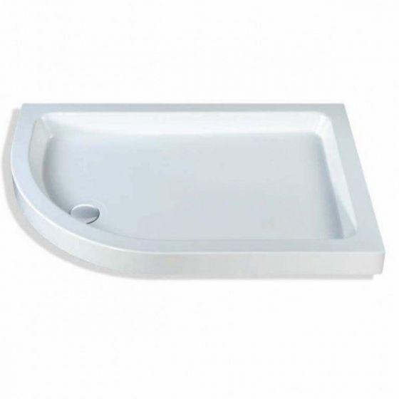 Classic quadrant shower trays Stone Resins Offset Quadrant Left Hand 1200mm x 900mm Flat top