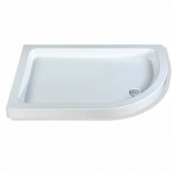 Classic quadrant shower trays Stone Resins Offset Quadrant Right Hand 900mm x 800mm Flat top