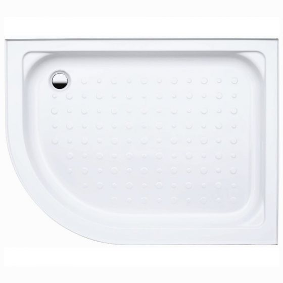 Coram Waterguard Riser Shower Tray 1000mm x 800mm Offset Quadrant Right Hand