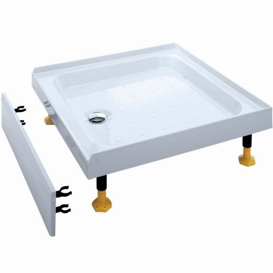 Coram Waterguard Riser Shower Tray 900mm x 900mm 3 Upstands