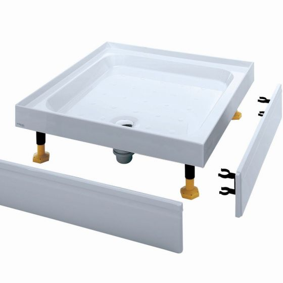 Coram Waterguard Riser Shower Tray 800mm x 800mm 4 Upstands