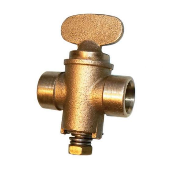 End Feed Fixed Head Gas Cock 22mm