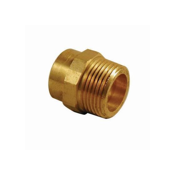 End Feed Male Iron Coupler 8mm x 1/4""