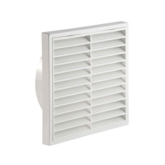"Fixed Wall Grille 100mm / 4"" - White"