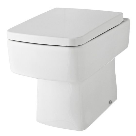 Hudson Reed Bliss Back to Wall Pan & Soft Close Seat - White