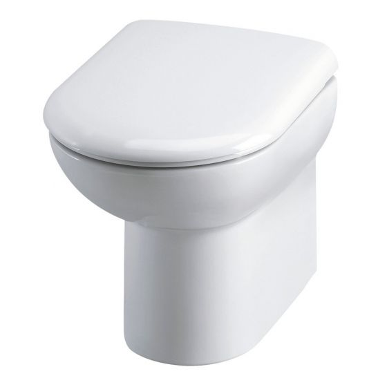 Hudson Reed D-Shape Back to Wall Pan & Soft Close Seat - White