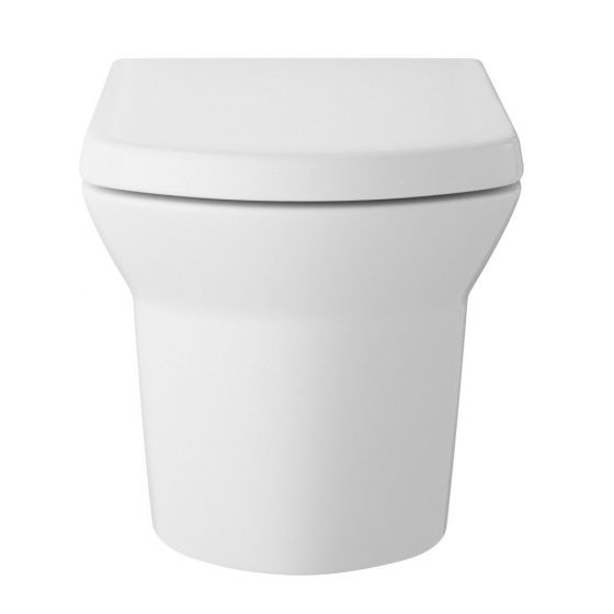 Hudson Reed Maya Wall Hung Pan & Soft Close Seat - White