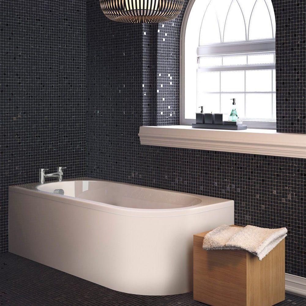 Shaped Baths Small Bathrooms: Trojan J Shaped 1700mm X 750mm Single Ended Plain Bath