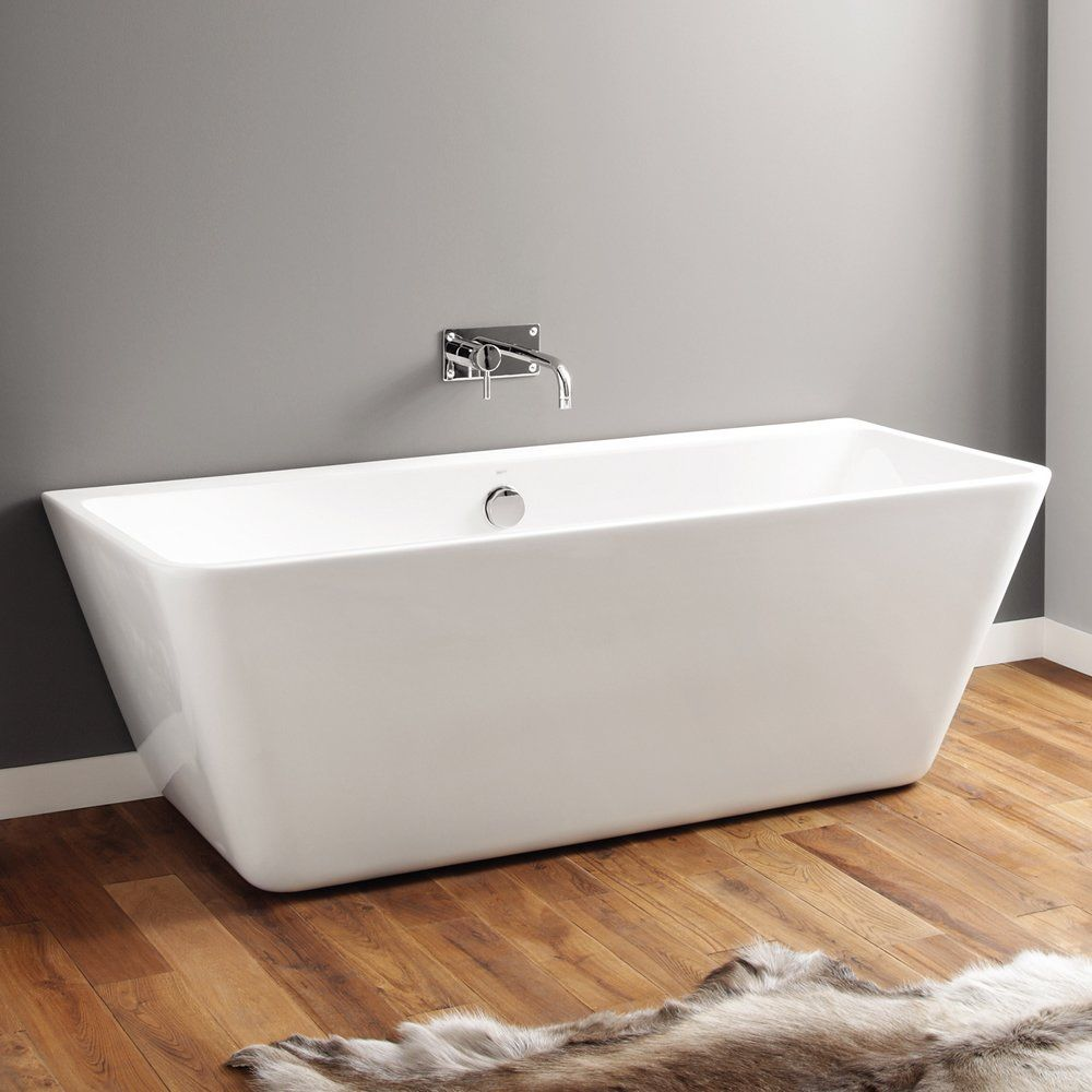 April eppleby contemporary freestanding bath 1700mm x 750mm for Small baths 1100