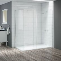 Merlyn Vivid 300mm Fixed Wetroom Flipper Panel DIEW3006