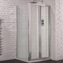 Aquadart Venturi 6 900mm x 760mm Bifold Door Shower Enclosure and Shower Tray (Includes Free Shower Tray Waste)