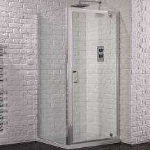 Aquadart Venturi 6 800mm x 800mm Pivot Door Shower Enclosure and Shower Tray (Includes Free Shower Tray Waste)