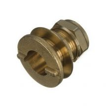 Brass Compression Straight Tank Connector 15mm