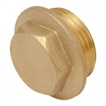 "Brass Flanged Hexagon Plug 1"" Male"