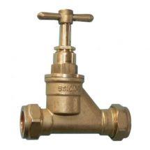 Brass Poly Stopcock 25mm