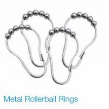 12 Pack Metal Rollerball Curtain Rings