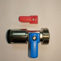 15mm Straight Pushfit Washing Machine Tap Valve