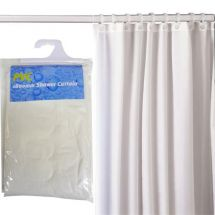 MX White PVC Curtain 1800mm With Rings