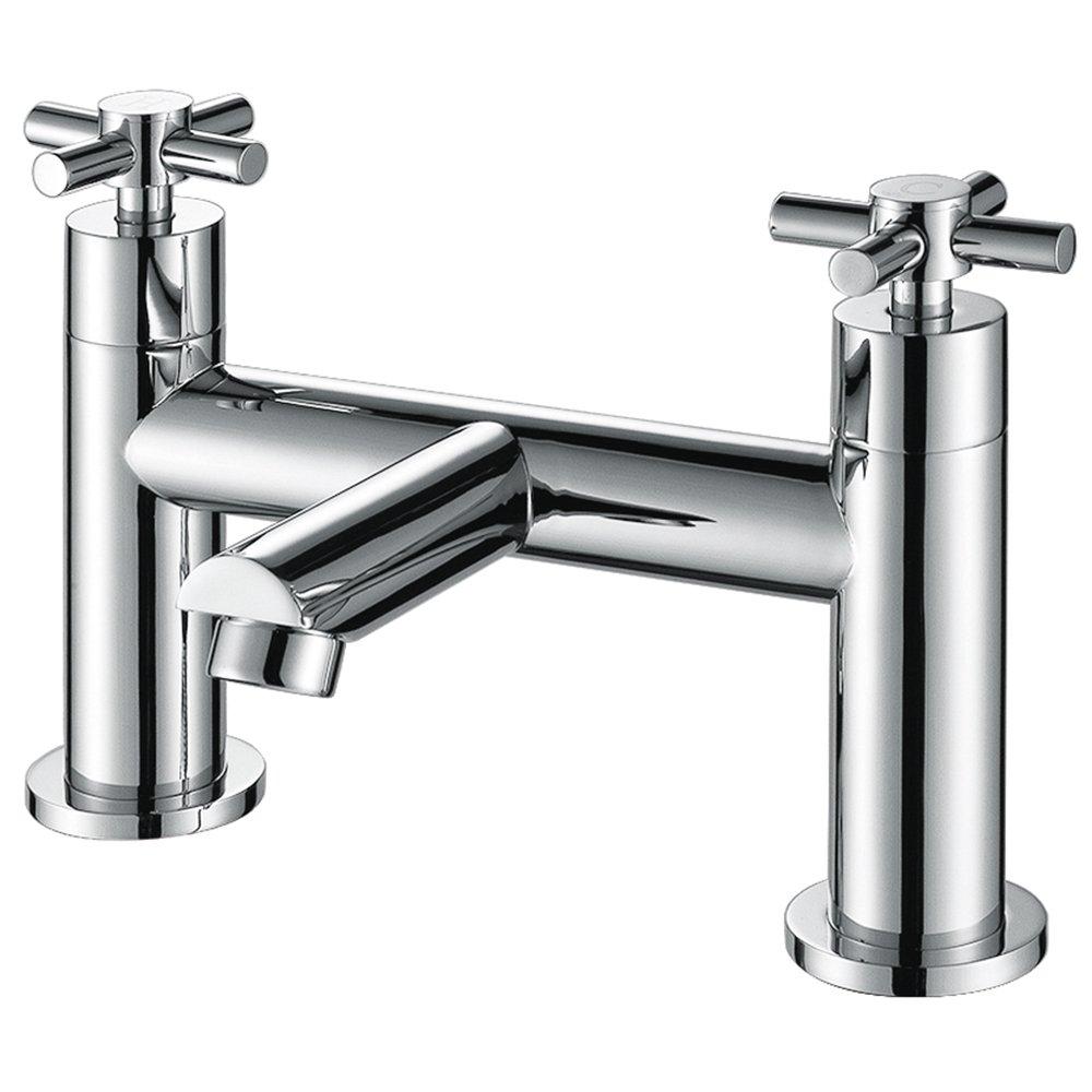 Traditional Cross Head Chrome Bathroom Bath Filler Tap ...